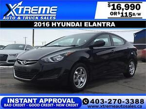 2016 Hyundai Elantra $115 bi-weekly APPLY NOW DRIVE NOW