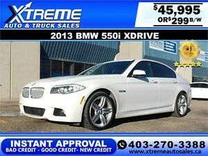 2013 BMW 550i M-package Xdrive $299 b/w APPLY NOW DRIVE NOW