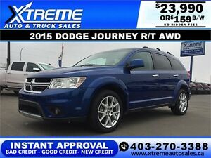 2015 Dodge Journey R/T AWD $159 bi-weekly APPLY NOW DRIVE NOW