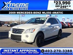 2009 MERCEDES-BENZ ML550 $0 Down $249 B/W APPLY NOW DRIVE NOW