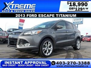 2013 Ford Escape Titanium 4WD $129 BI-WEEKLY APPLY NOW DRIVE NOW