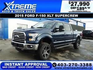 2015 FORD F-150 XLT SUPERCREW 4X4 *INSTANT APPROVAL* $189/BW