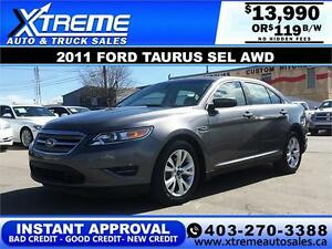 2011 Ford Taurus SEL AWD $119 bi-weekly APPLY NOW DRIVE NOW