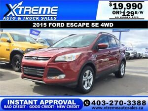 2015 FORD ESCAPE SE AWD $129 BI-WEEKLY *INSTANT APPROVAL*