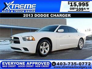 2013 Dodge Charger SE V6 $109 bi-weekly APPLY TODAY DRIVE TODAY