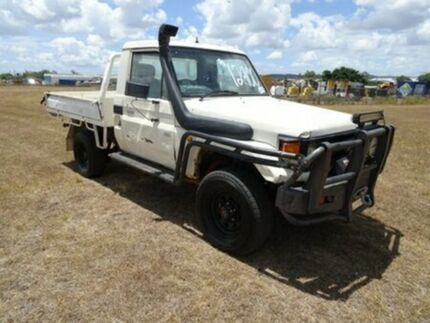 2004 Toyota Landcruiser HZJ79R White 5 Speed Manual Cab Chassis Archerfield Brisbane South West Preview
