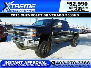 2015 CHEVY SILVERADO 3500HD LIFTED *INSTANT APPROVAL* $339/BW!