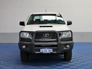 2014 Toyota Hilux KUN26R MY14 SR (4x4) White 5 Speed Automatic