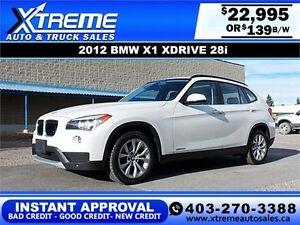 2013 BMW X1 xDrive28i $139 bi-weekly APPLY NOW DRIVE NOW