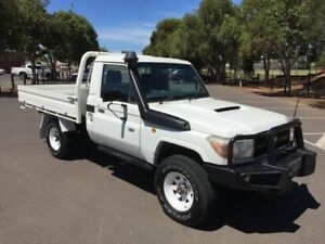 2012 Toyota Landcruiser VDJ79R MY12 Update Workmate (4x4) 5 Speed Manual Cab Chassis