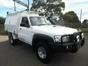 2014 Nissan Patrol MY14 DX (4x4) White 5 Speed Manual Leaf Cab Chassis Moorabbin Kingston Area Preview