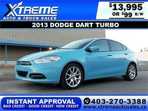 2013 Dodge Dart SXT Turbo $99 BI-WEEKLY APPLY TODAY DRIVE TODAY