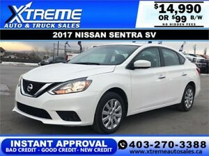 2017 NISSAN SENTRA SV $99 BI-WEKLY APPLY NOW DRIVE NOW
