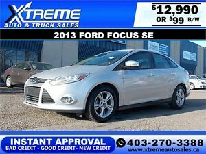 2013 Ford Focus SE FlexFuel $99 bi-weekly APPLY NOW DRIVE NOW