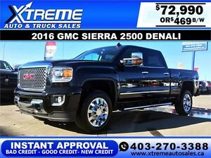 2016 GMC Sierra 2500 Denali $469 bi-weekly APPLY NOW DRIVE NOW