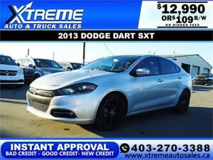 2013 DODGE DART SXT TURBO $109 B/W *$0 DOWN* APPLY NOW DRIVE NOW