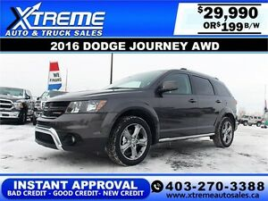 2016 Dodge Journey AWD $199 bi-weekly APPLY NOW DRIVE NOW