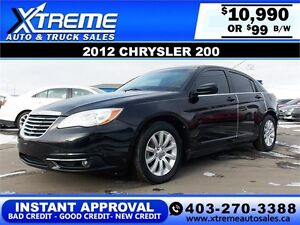 2012 Chrysler 200 $99 bi-weekly APPLY NOW DRIVE NOW