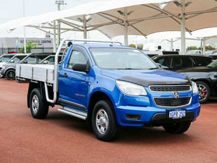 2014 Holden Colorado RG MY14 LX (4x4) Blue 6 Speed Manual Cab Chassis Jandakot Cockburn Area Preview
