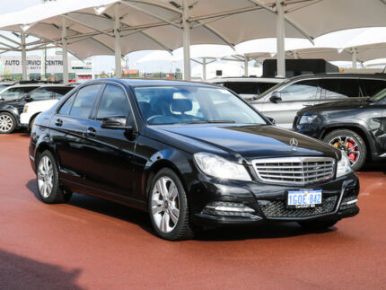 2012 Mercedes-Benz C200 W204 MY12 BE Black 7 Speed Automatic G-Tronic Sedan Jandakot Cockburn Area Preview