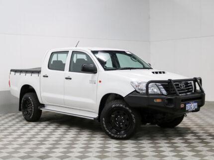 2014 Toyota Hilux KUN26R MY12 SR (4x4) White 4 Speed Automatic Dual Cab Pickup