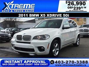 2011 BMW X5 Xdrive 50i M Package $239 b/w APPLY NOW DRIVE NOW