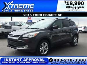 2015 Ford Escape SE $0 Down $119 bi-weekly APPLY NOW DRIVE NOW