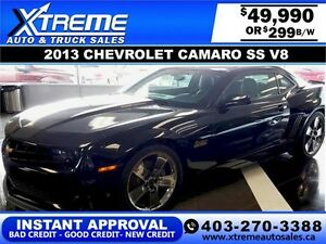 2013 Chevrolet Camaro SS V8 $299 bi-weekly APPLY NOW DRIVE NOW