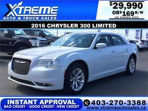 2016 Chrysler 300 Limited $169 bi-weekly APPLY NOW DRIVE NOW