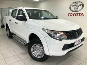2017 Mitsubishi Triton MQ MY17 GLX (4x4) White 6 Speed Manual Dual Cab Utility Bungalow Cairns City Preview