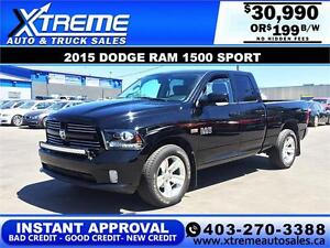 2015 Dodge Ram 1500 Sport *INSTANT APPROVAL* $0 DOWN $199/BW!