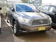 2009 Toyota Kluger GSU40R KX-R 2WD Grey 5 Speed Sports Automatic Wagon Mount Druitt Blacktown Area Preview