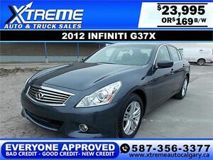 2012 Infiniti G37x Luxury AWD $169 BI-WEEKLY APPLY NOW DRIVE NOW