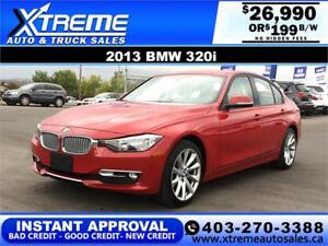 2013 BMW 320i  XDRIVE $0 DOWN $199 B/W APPLY NOW DRIVE NOW