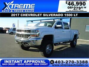 2017 CHEVROLET SILVERADO 1500 LIFTED *INSTANT APPROVAL* $279/BW!