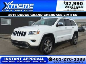2016 JEEP GRAND CHEROKEE LIMITED $199 B/W APPLY NOW DRIVE NOW