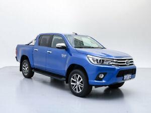 2017 Toyota Hilux GUN126R SR5 (4x4) Blue 6 Speed Automatic Dual Cab Utility