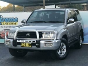 2001 Toyota Landcruiser HDJ100R GXV Silver Automatic Wagon Campbelltown Campbelltown Area Preview