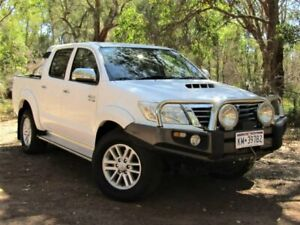 2013 Toyota Hilux KUN26R MY14 SR5 Double Cab White 5 Speed Automatic Utility Kalamunda Kalamunda Area Preview