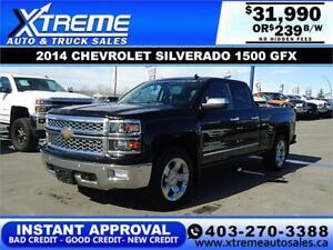 2014 CHEVROLET SILVERADO 1500 GFX *INSTANT APPROVAL* $239/BW!