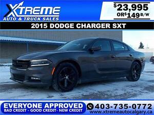 2015 Dodge Charger SXT $149 bi-weekly APPLY DRIVE NOW