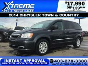 2014 Chrysler Town and Country $139 b/w APPLY NOW DRIVE NOW