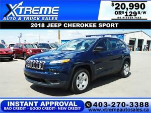 2018 Jeep Cherokee Sport *INSTANT APPROVAL* $129/BW!