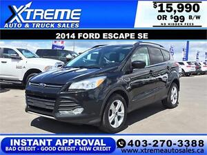 2014 Ford Escape SE $0 Down $99 bi-weekly APPLY NOW DRIVE NOW