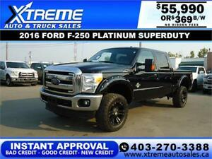 2016 FORD F-250 SUPERDUTY LARIAT *INSTANT APPROVAL* $369/BW