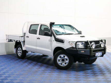 2011 Toyota Hilux KUN26R MY11 Upgrade SR (4x4) White 4 Speed Automatic