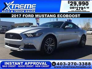 2017 Ford Mustang EcoBoost $179 bi-weekly APPLY NOW DRIVE NOW