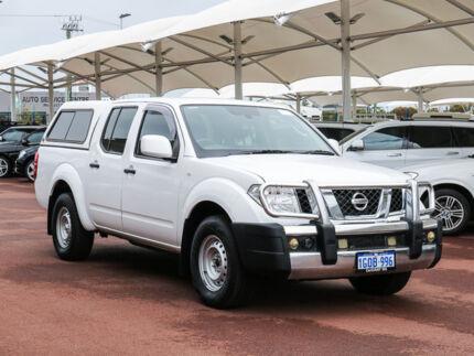 2013 Nissan Navara D40 MY13 RX (4x4) White 5 Speed Automatic Dual Cab Pick-up Jandakot Cockburn Area Preview