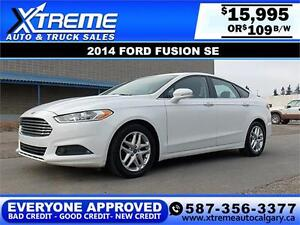 2014 Ford Fusion SE $109 bi-weekly APPLY TODAY DRIVE TODAY