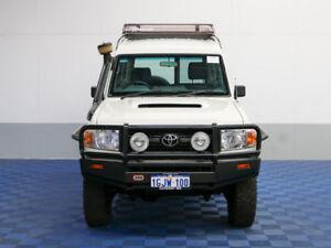 2011 Toyota Landcruiser VDJ78R 09 Upgrade Workmate (4x4) 11 Seat White 5 Speed Manual TroopCarrier